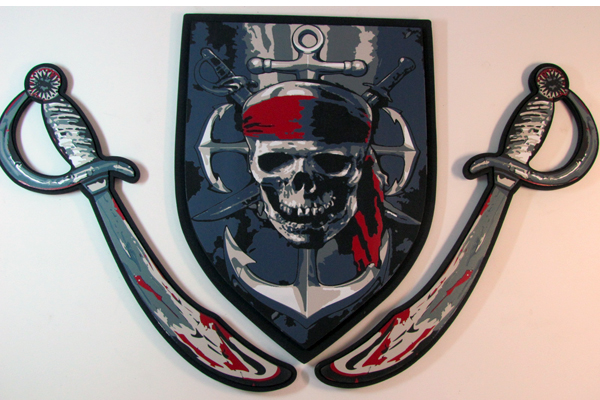 HZ-W1018,EVA foam pirate shield and knife set